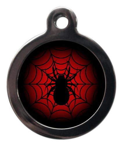 Pet ID Tag Spiderman Logo  Web with Spider